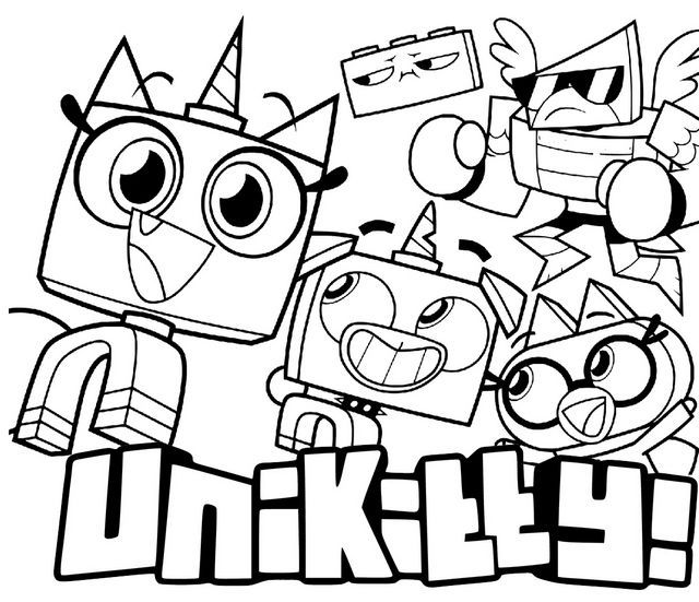 All New Unikitty Characters Coloring Page Lego Coloring Pages Cartoon Coloring Pages Coloring Pages