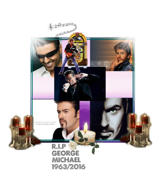 """R.I.P George Michael 1963-2016"" by slash95 ❤ liked on Polyvore featuring art"