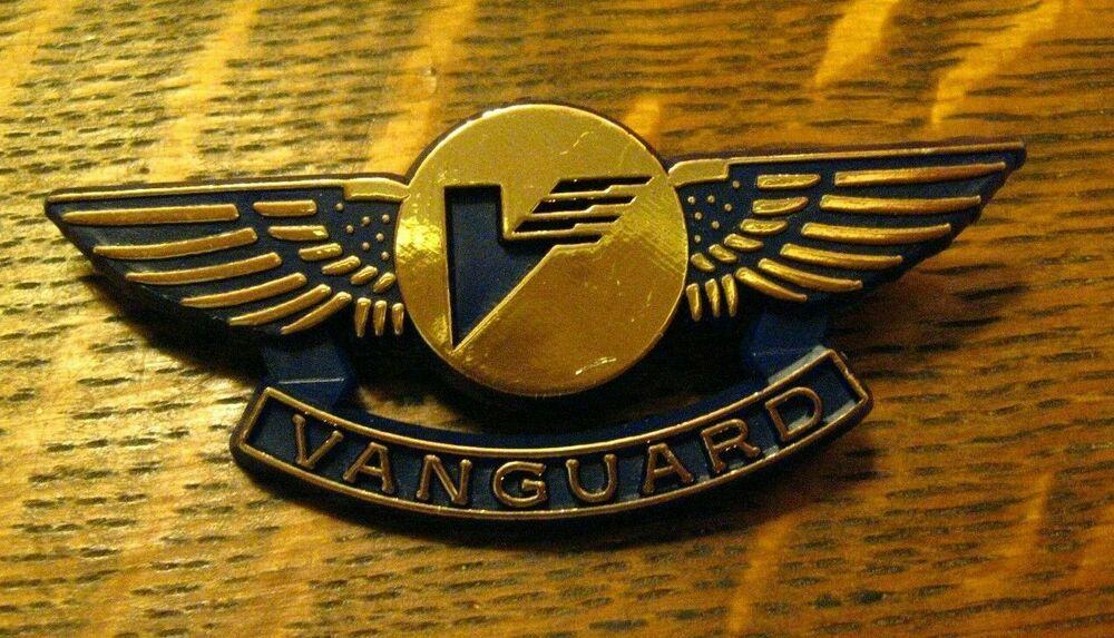 Vanguard Airlines Wings Pin Vintage Junior Pilot