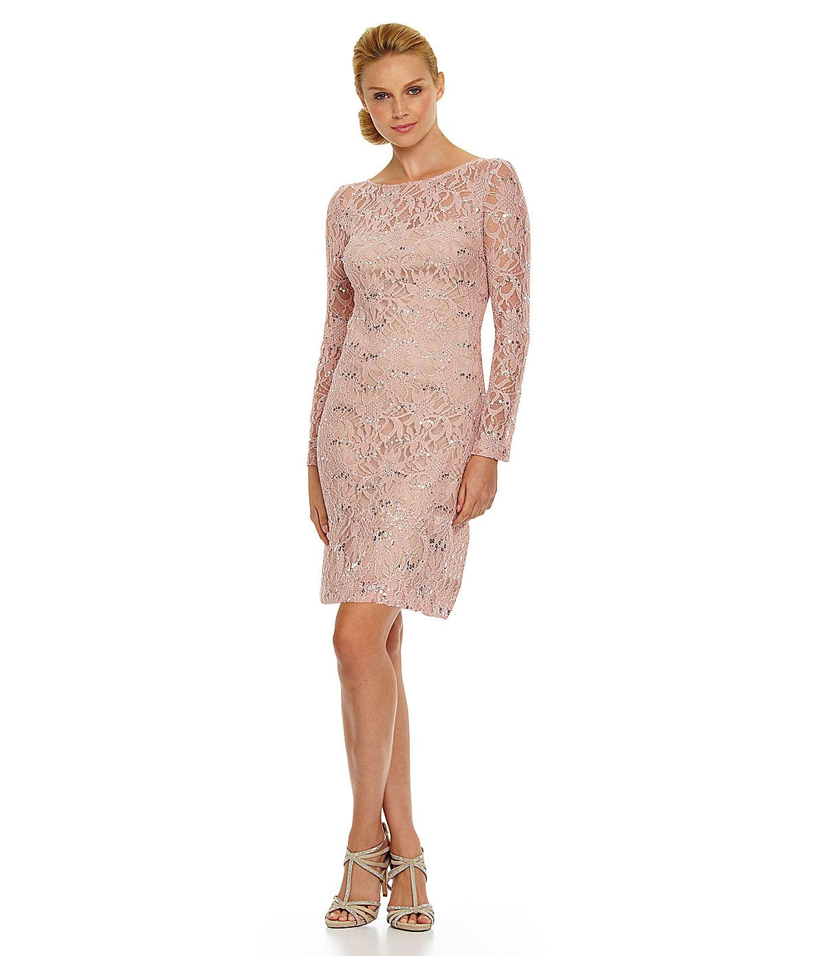 JS Collections Sequined Lace Dress | Dillards.com | Someday...Mother ...