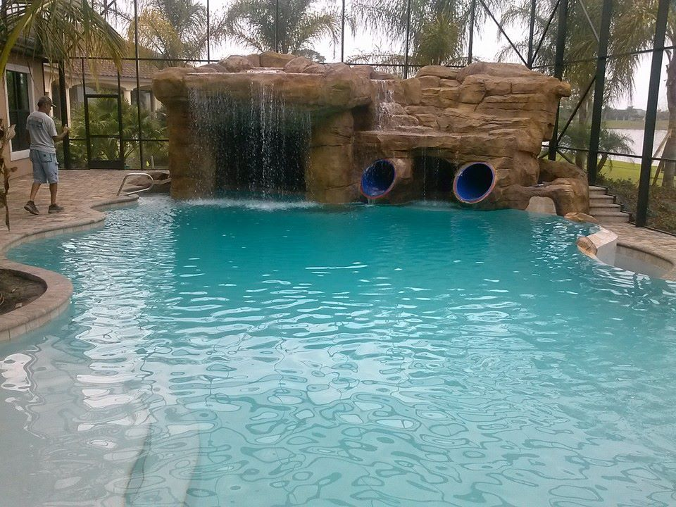 Man Cave Waterfall Cool Pools Pool Designs Backyard Pool