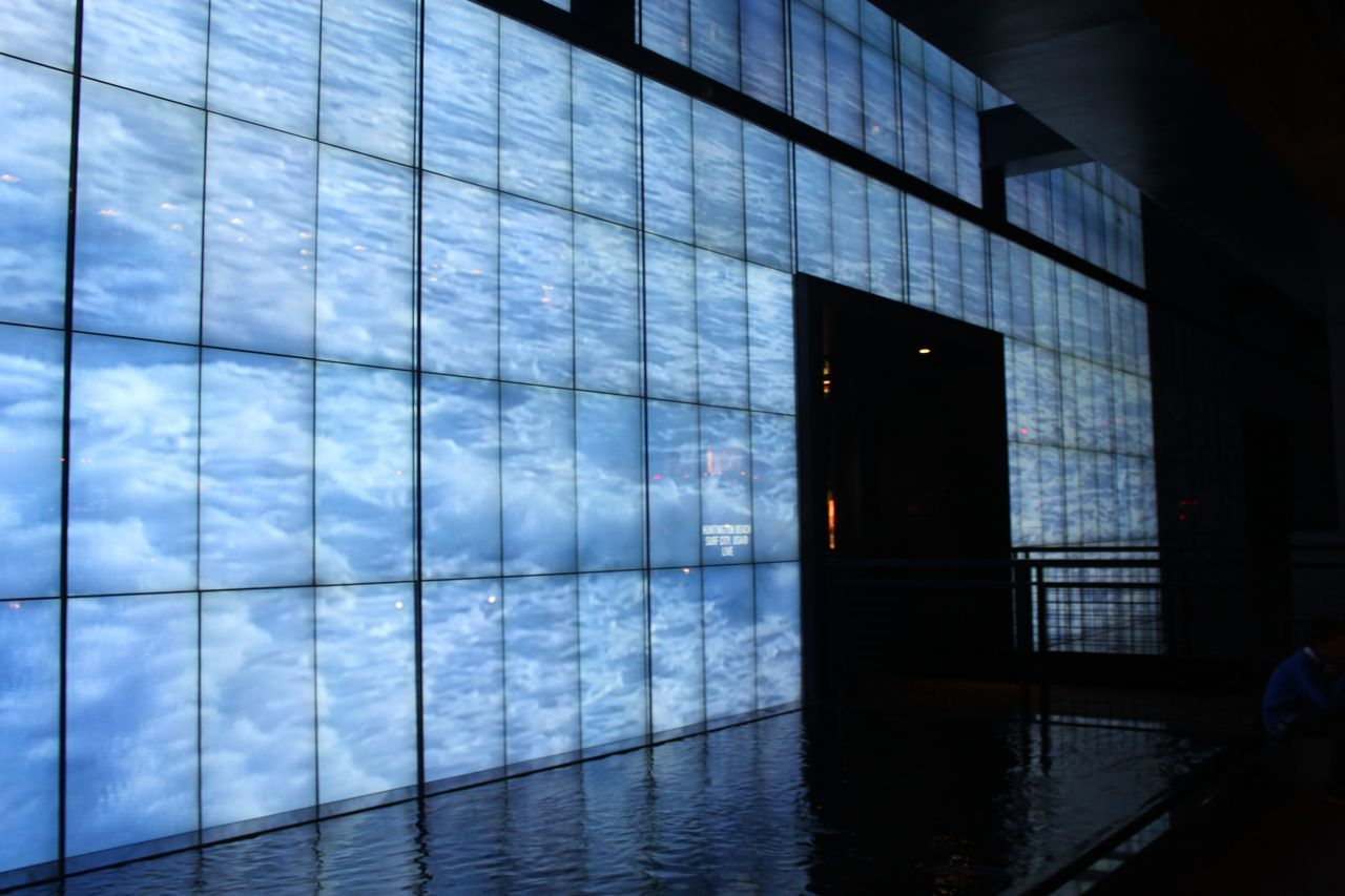 The Full Wall Of Video Screens Showing The Oceans In