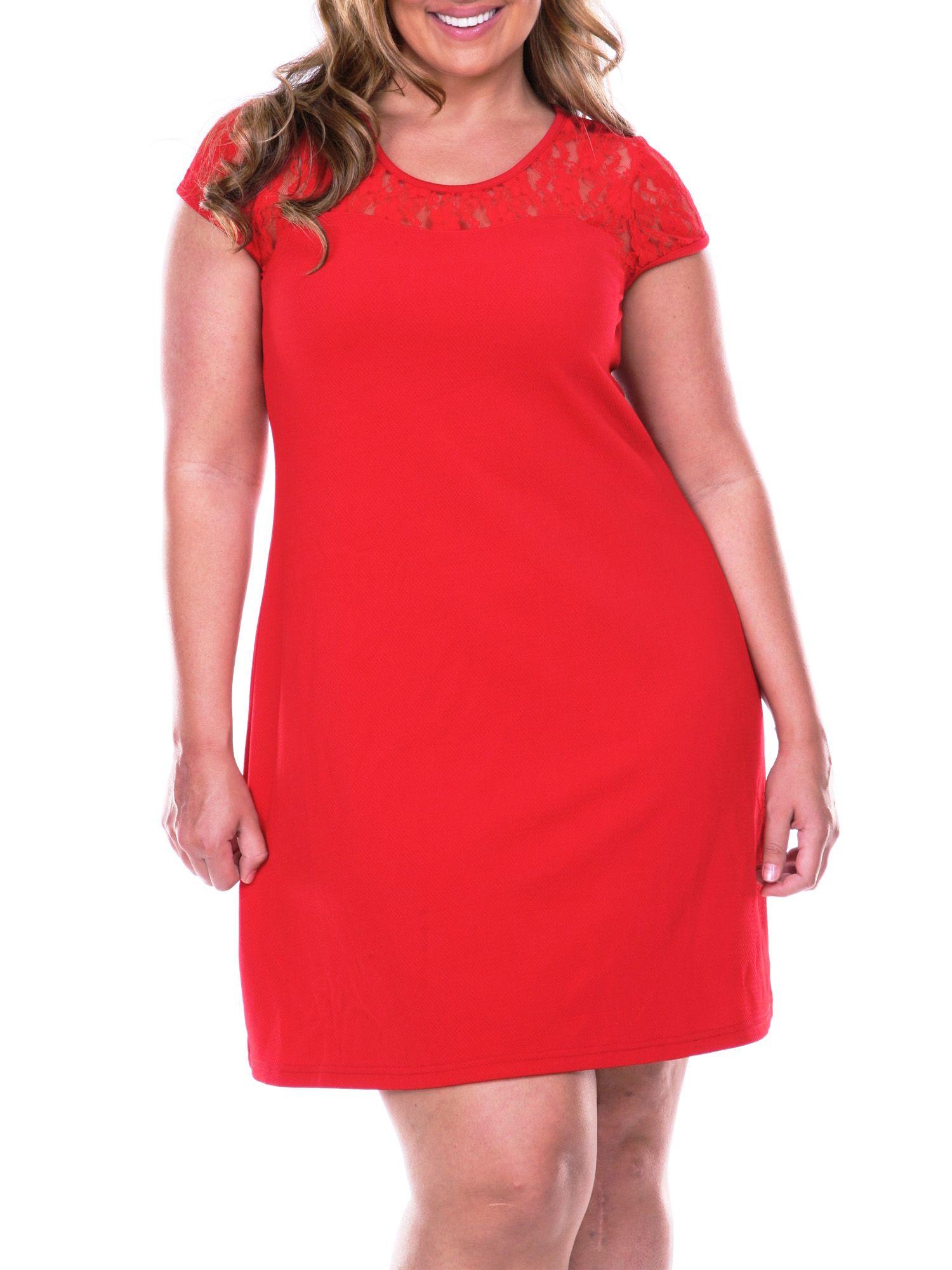 White Mark White Mark Women S Plus Size Lace Cutout Dress Walmart Com Lace Cutout Dress Capped Sleeve Dress Lace Cutout [ 2000 x 1500 Pixel ]