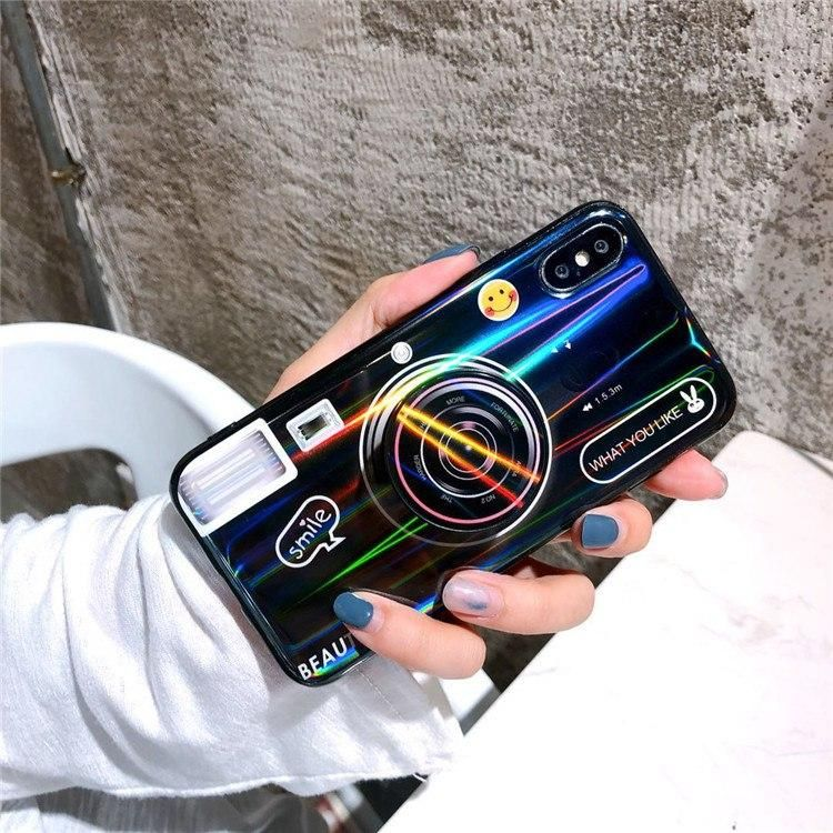 Laserkamera + PopSocket iPhone Hülle   – phone case