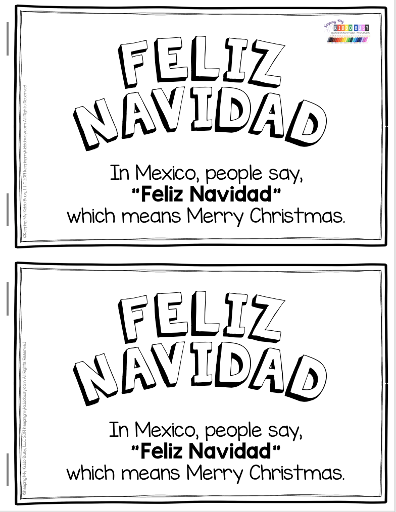 All About Christmas Free Activities Mexico Italy And Germany Keeping My Kiddo Busy Christmas Teaching Christmas Kindergarten Teaching Holidays
