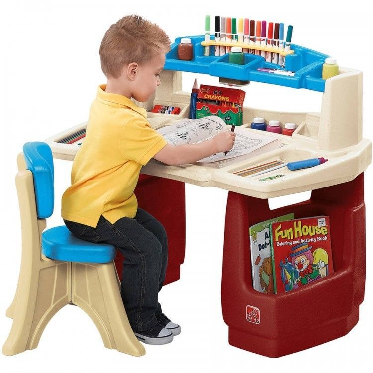 Toddler Activity Table Kids Arts and Crafts Coloring Desk ...