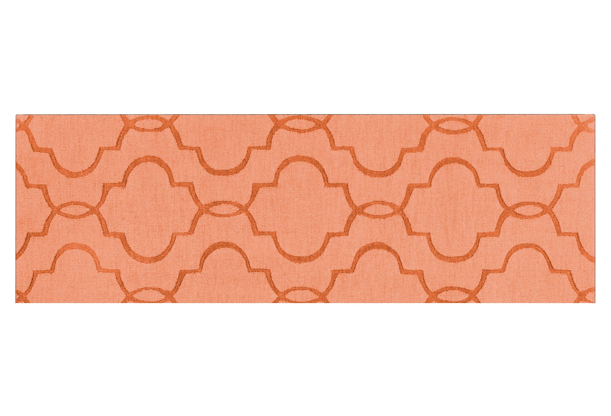 """One Kings Lane - Runners for Every Room - 2'6""""x8' Amy Runner, Peach"""