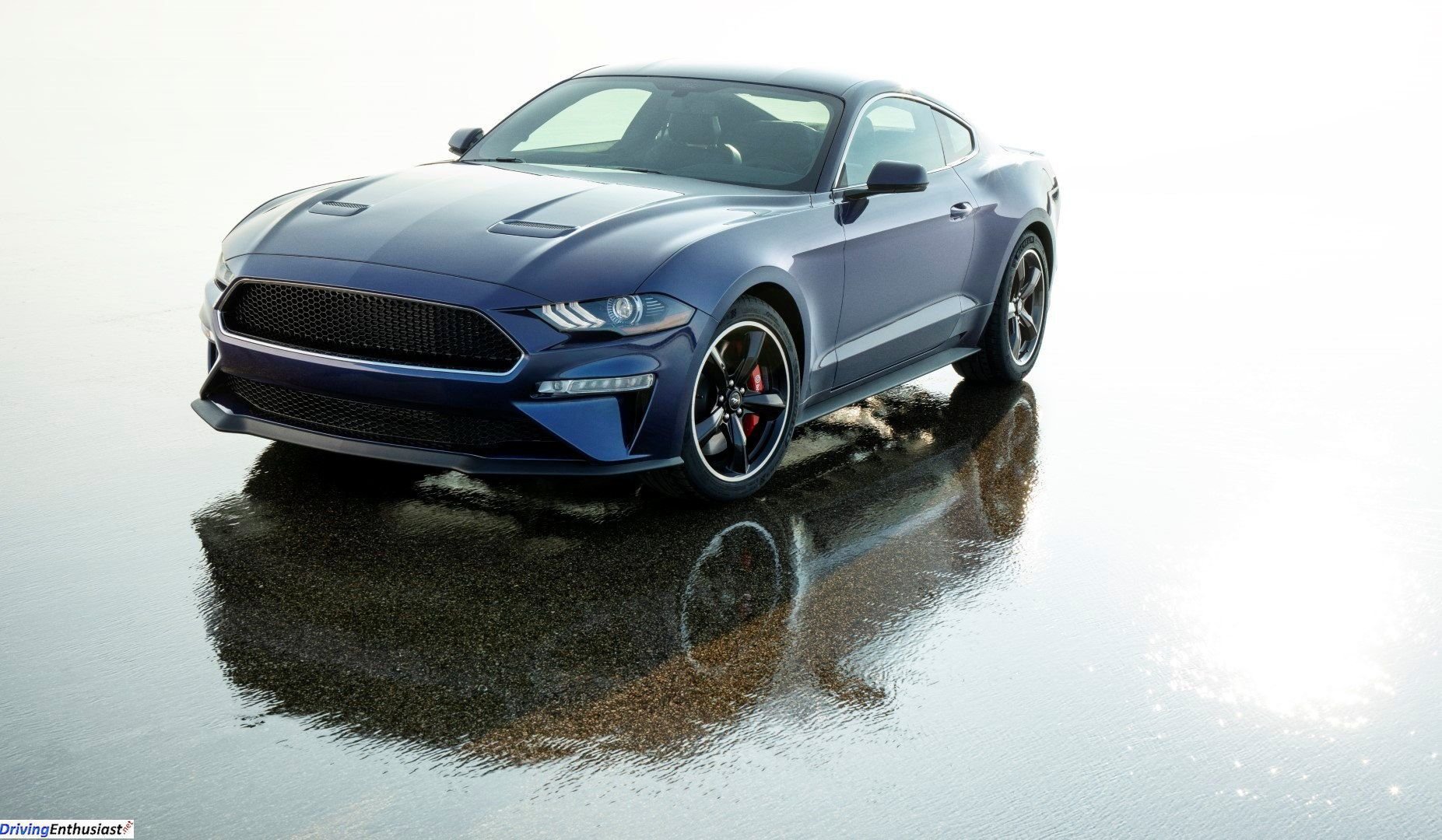 2019 ford mustang bullitt kona blue with unique gray wheels and blue cabin stitching inside a one off car built by ford to benefit the juvenile diabetes