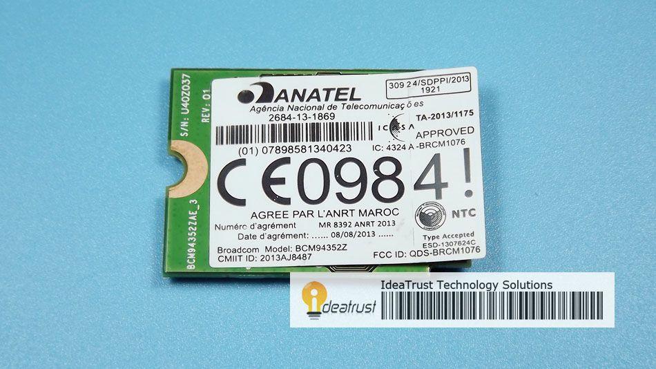 BCM94352Z DW1560 06 XRYC 802 11ac NGFF M2 867 Mbps BCM94352