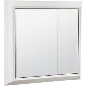American Classics 27 In W Storage Mirror Medicine Cabinet In White