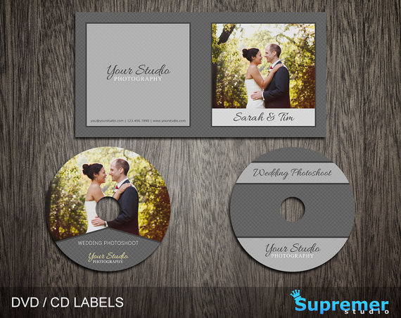 Use this wedding DVD CD label template to give your customers a - cd label