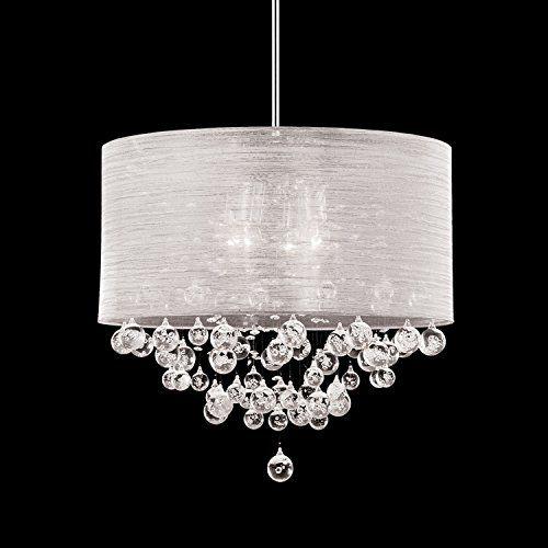 New 4 Lamp Chandelier Round Drum Shade Teardrop Crystal C Https Www Amazon Co Light Fixtures Bedroom Ceiling Crystal Chandelier Bedroom Crystal Chandelier