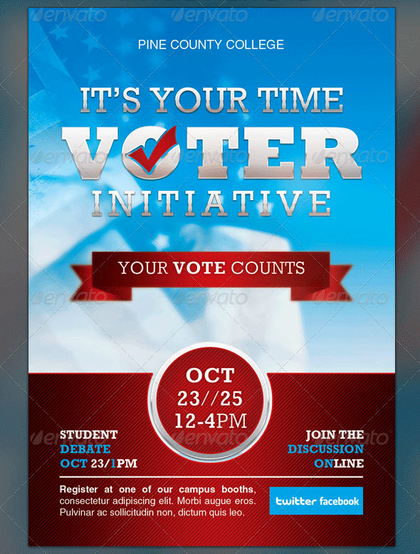 political and voting flyer templates corporate templates flyer