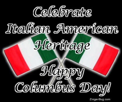 Italian American Heritage Columbus Day Glitter Graphic Comment Happy Columbus Day Italian American Heritage Columbus Day