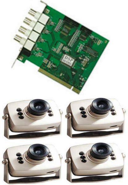 نظام كاميرات مراقبة يتكون من عدد 1 كارت تسجيل و عدد 4 كاميرا مراقبة صغيرة Mini Camera Camera Prices Camera