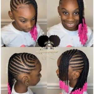 50 Kids Braids with Beads Hairstyles | Black Beauty Bombshells #blackbraidedhairstyles