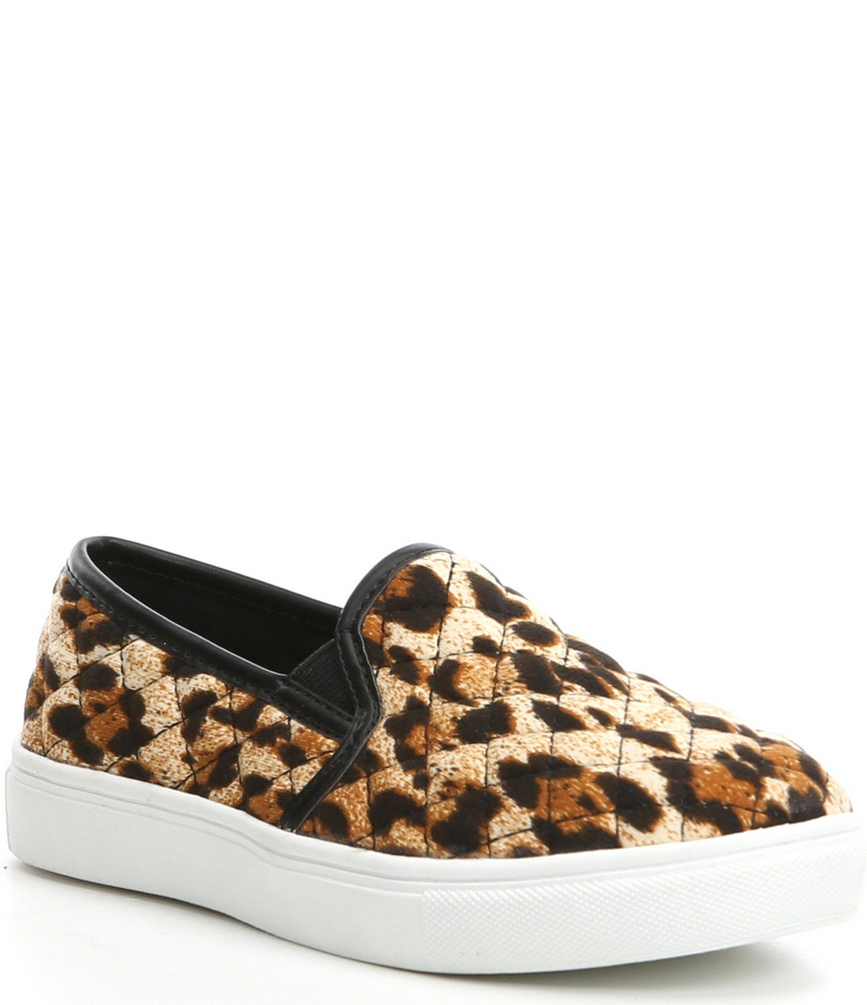From Steve Madden, the J-Ecentricq girls' shoes feature:quilted synthetic upperslip-on closure for easy on/off padded sock for added comfort synthetic lining TPR outsole Imported.