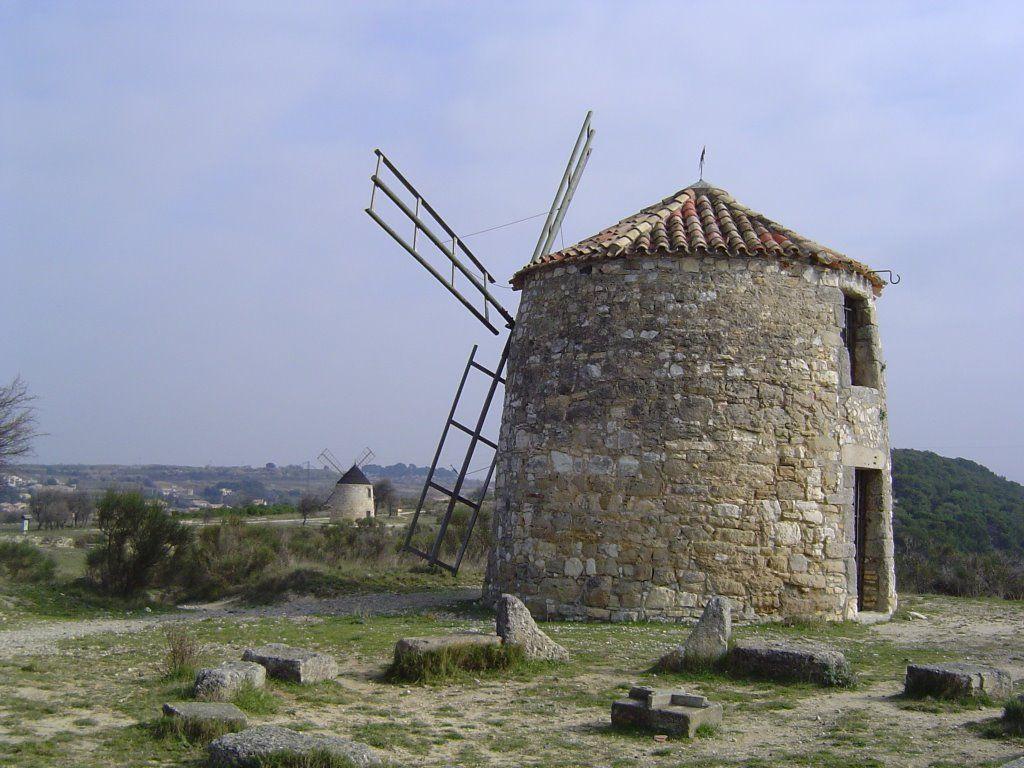Old mill in Nissan-lez-Enserune, France