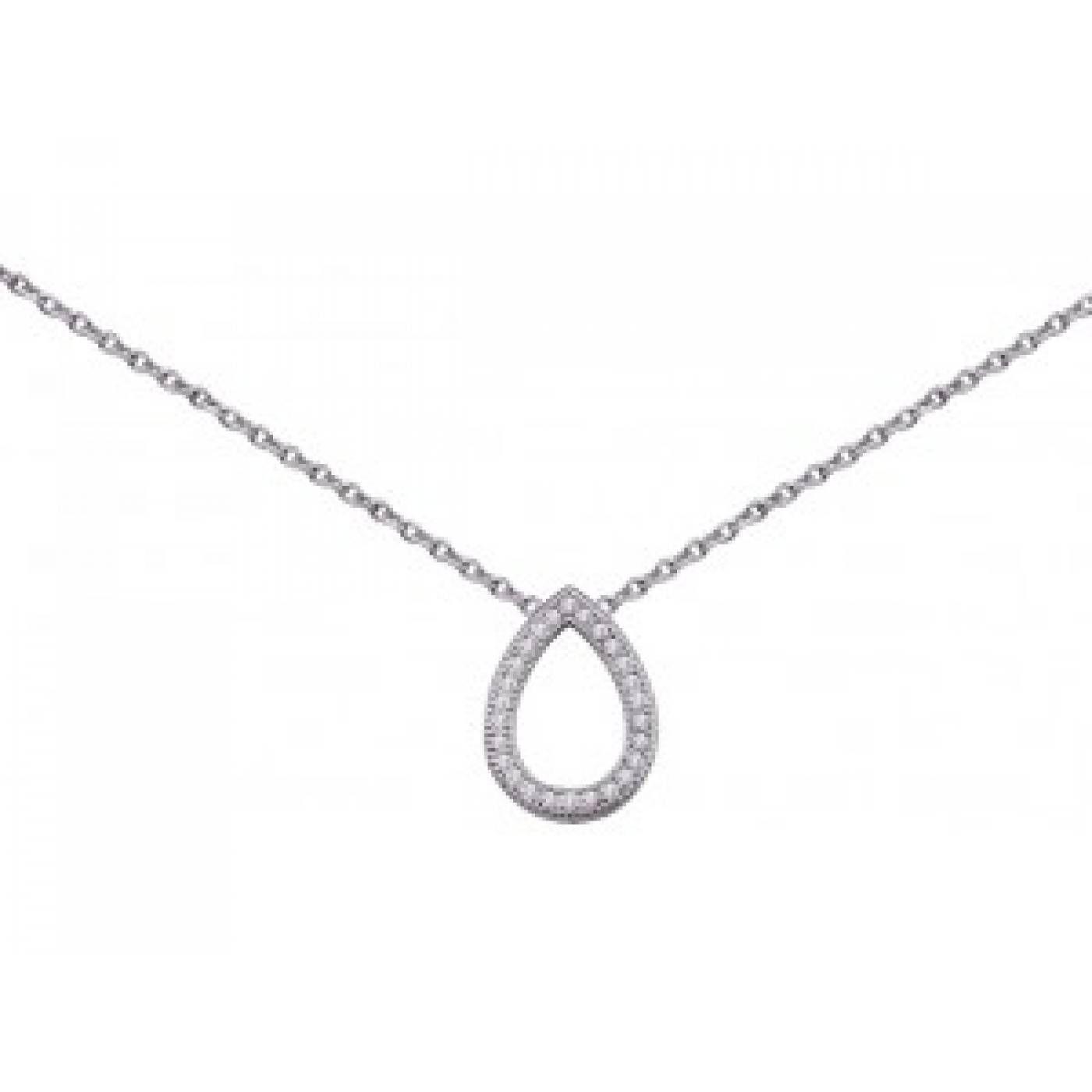 Ladies silver Larme de joie necklaces - Bijoux GL