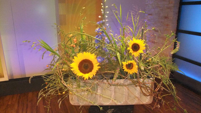 Sonnenblumen, gesteckt | Dekoideen | Pinterest | Sonnenblumen ...