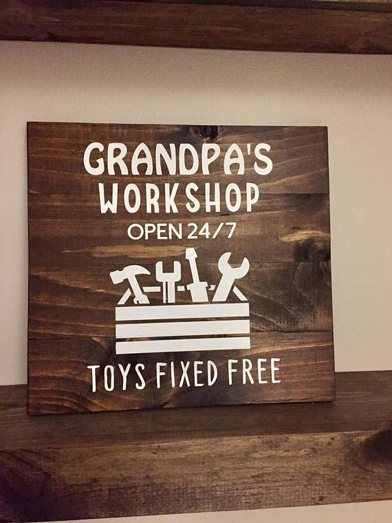 Daddy's Grandpa's Pawpaw's Workshop // Wooden Sign // Father's Day Gift // Gift for Birthday Christmas // Father's Day 14 x 14
