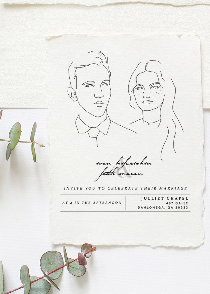 10 Beautifully Illustrated Wedding Invitations You Can Buy on Etsy