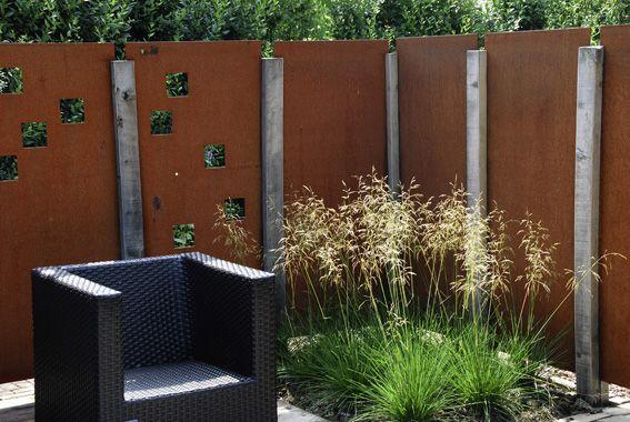 baustelle 2015 garten bronder - gabione classic kombiniert mit ... - Gartengestaltung Sichtschutz Stahl