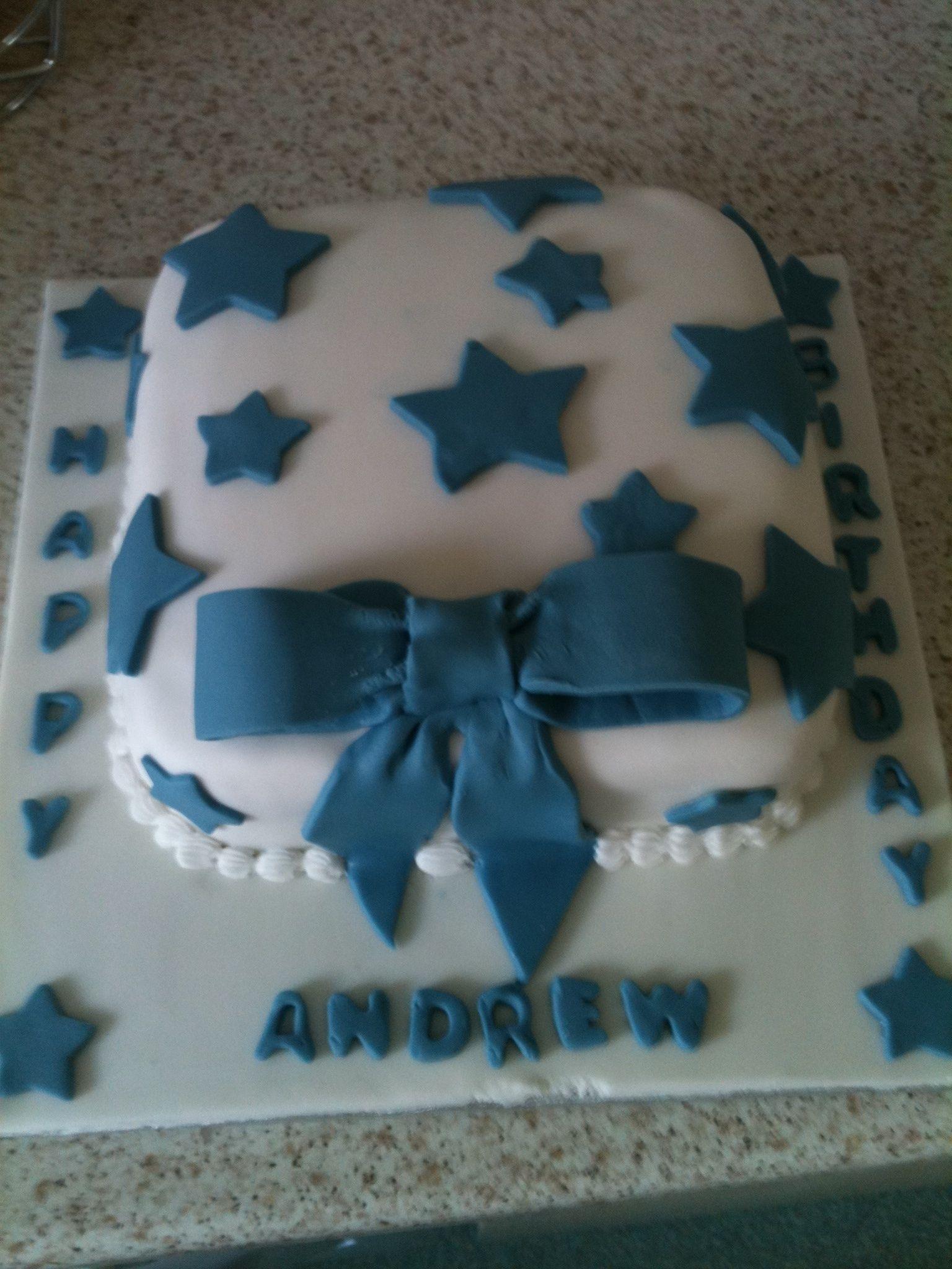 Birthday star cake