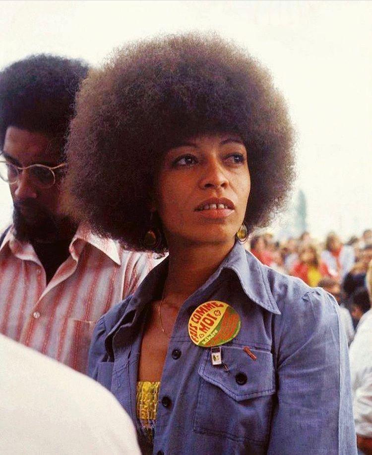 Photo Of Angela Davis Angela Davis Black Panthers Movement Feminist Icons