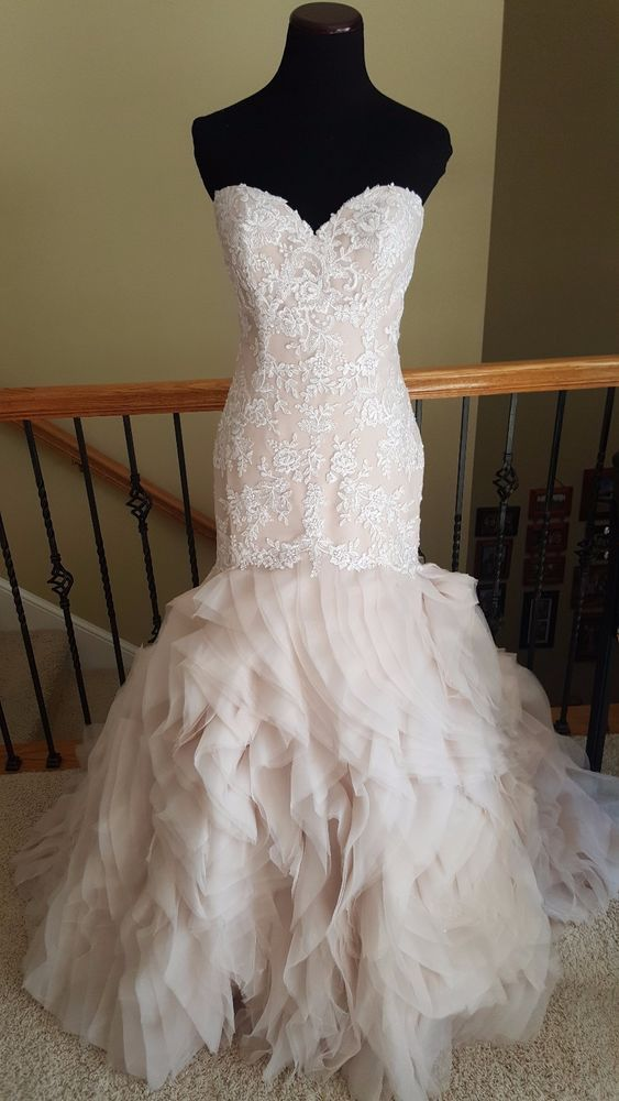 f41d813497df New w/ Tag! Stella York 6285 Ivory Moscato Lace Fit Flare Wedding ...