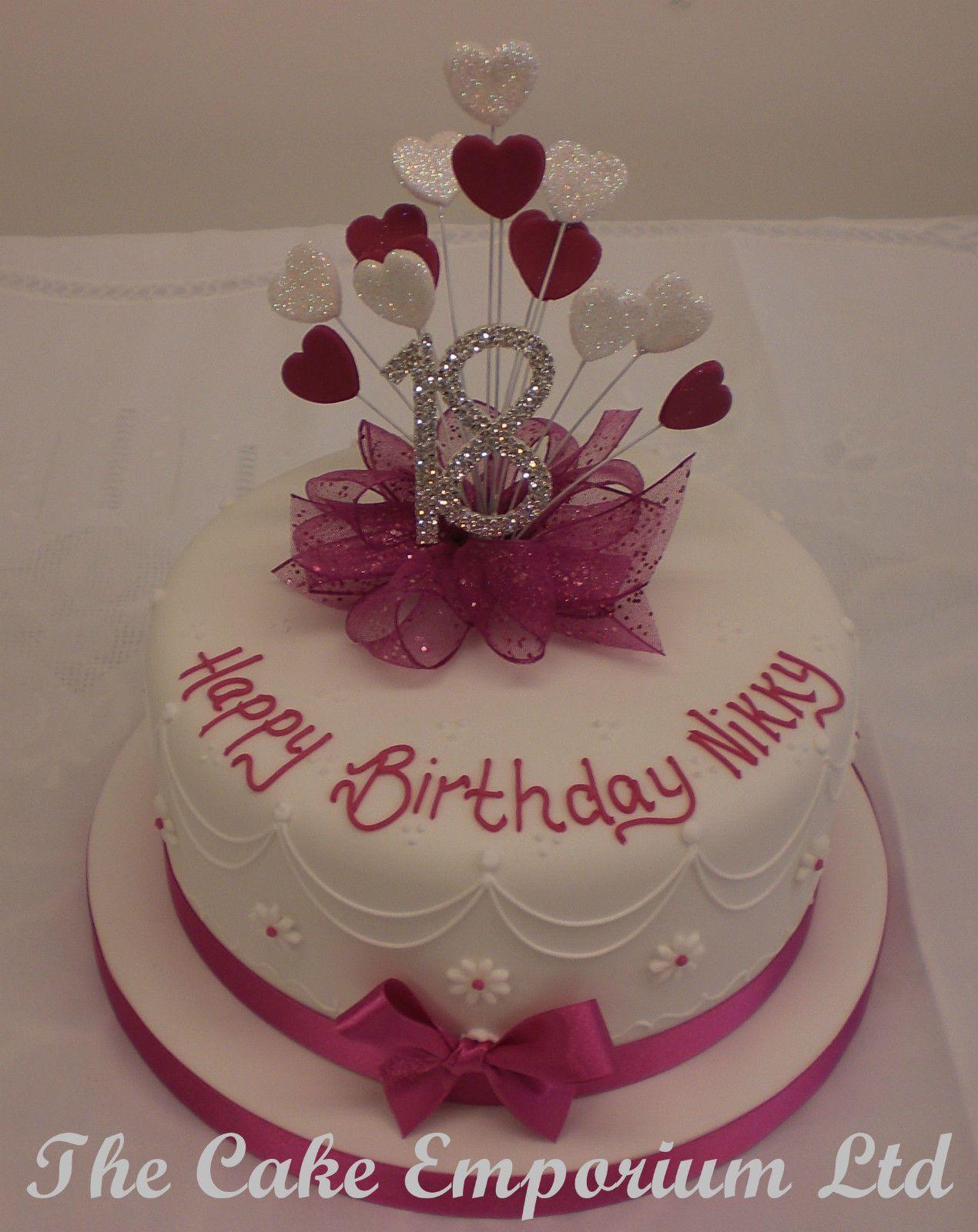 CAKE TOPPER HEART BURST SPRAY DIAMANTE BIRTHDAY ANNIVERSARY NUMBERS FUCHSIA In Crafts Cake Decorating