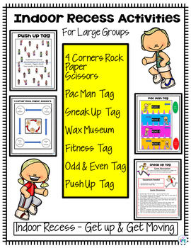 Indoor Recess Activities and Games for Large Groups in