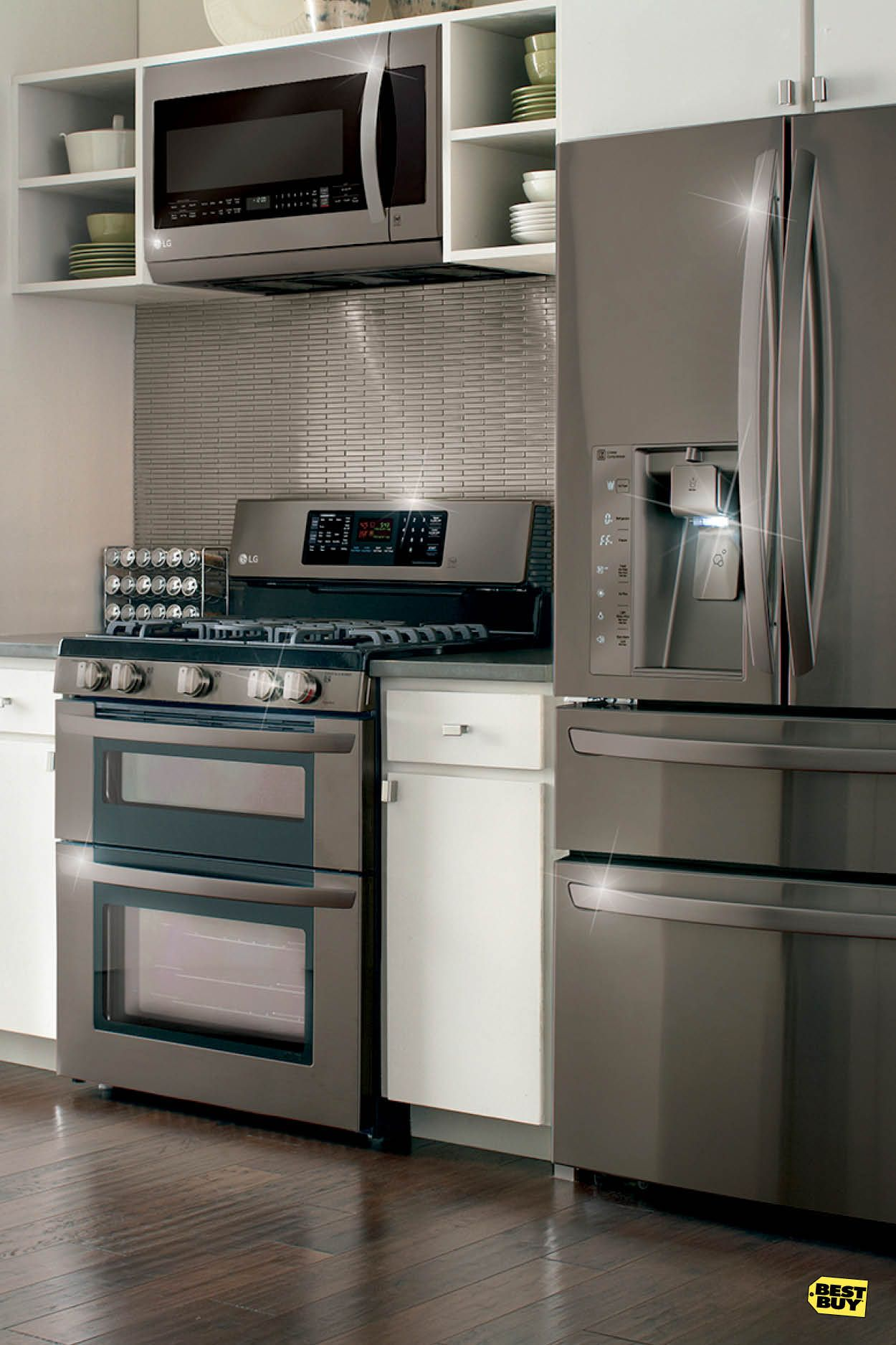 They Say Black Goes With Everything Well Trust Us It S True Start Your New Kitchen Remodel With The Latest Microwaves Ranges Home Kitchen Remodel