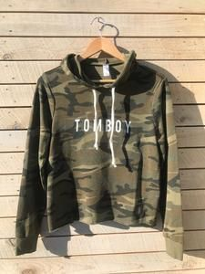 1ffe39e1e57dd hand printed tomboy camo hoodie | One Ocean Apparel | Hoodies ...