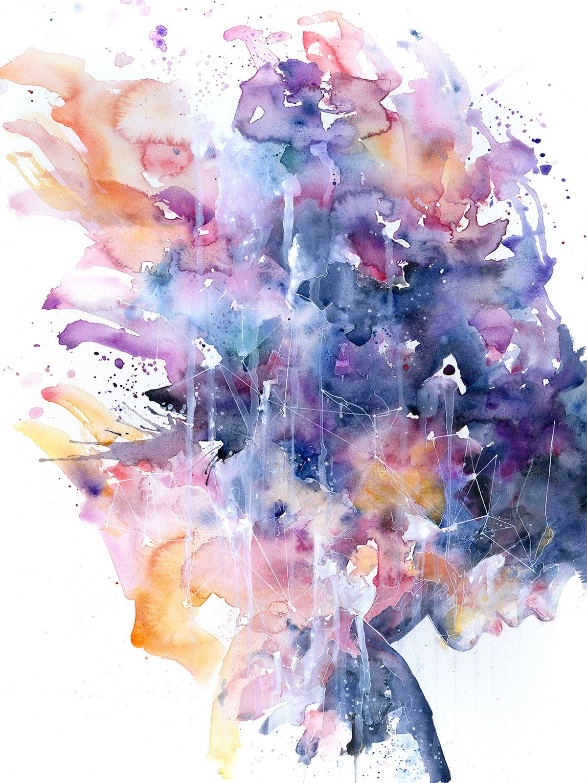 Artist: Silvia Pelissero Title: In a Single Moment All of Her Greatness Collapsed (Print) Size: 21 x 28   Silvia Pelissero, a painter best known as Agnes Cecile, was born in Rome, Italy. Using simple images coupled with abstract color and detail, Agnes Cecile creates rich, emotional human po...