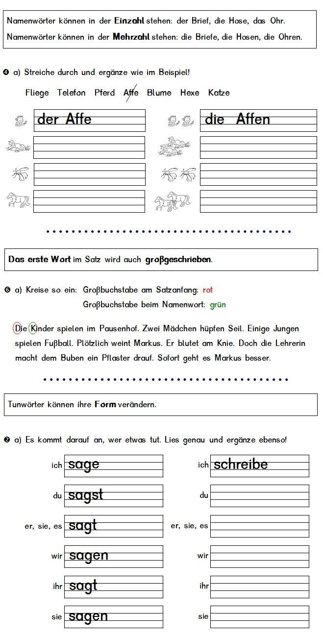 20 übungsblätter Deutsch Klasse 1 Deutsch Unterricht