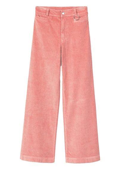 Pantalon large en velours côtelé Rose by MANGO  9163d733c13