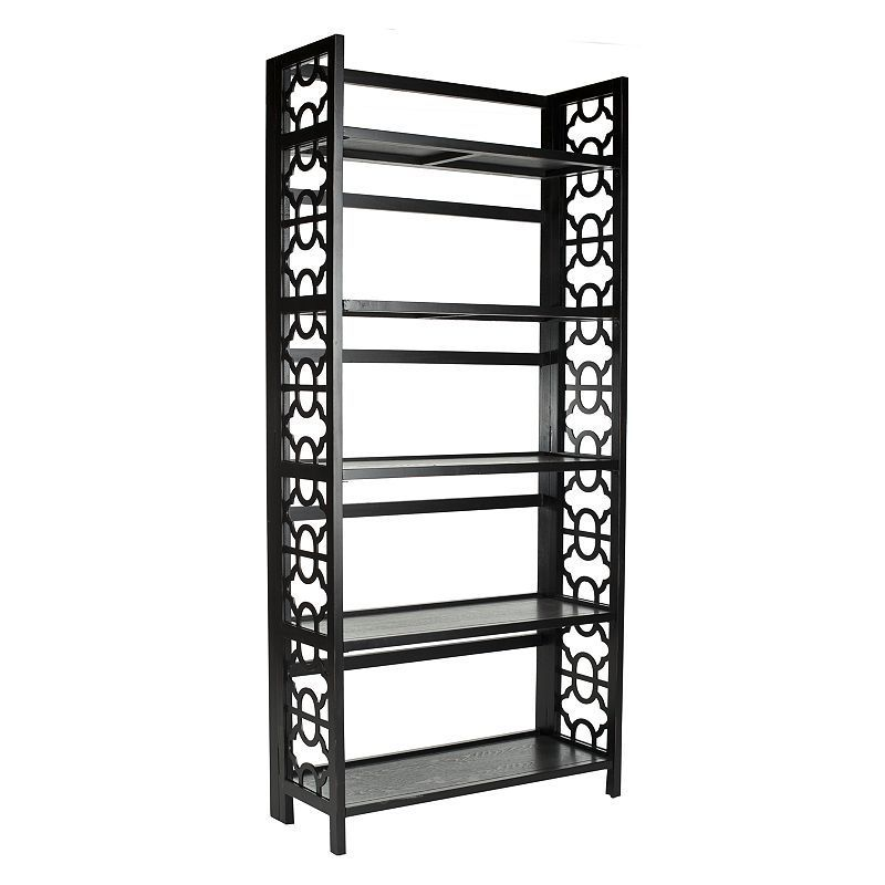 Safavieh Natalie Tall Open Bookcase, Black