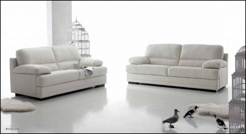 Charmant Black And White Italian Leather Sofas