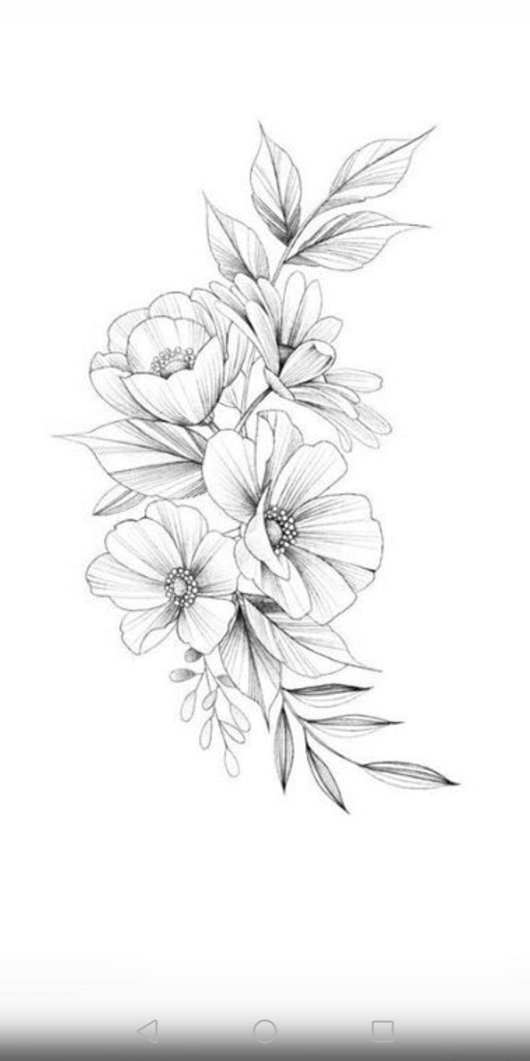 25 Beautiful Flower Drawing Information Ideas Beautiful Flower Drawings