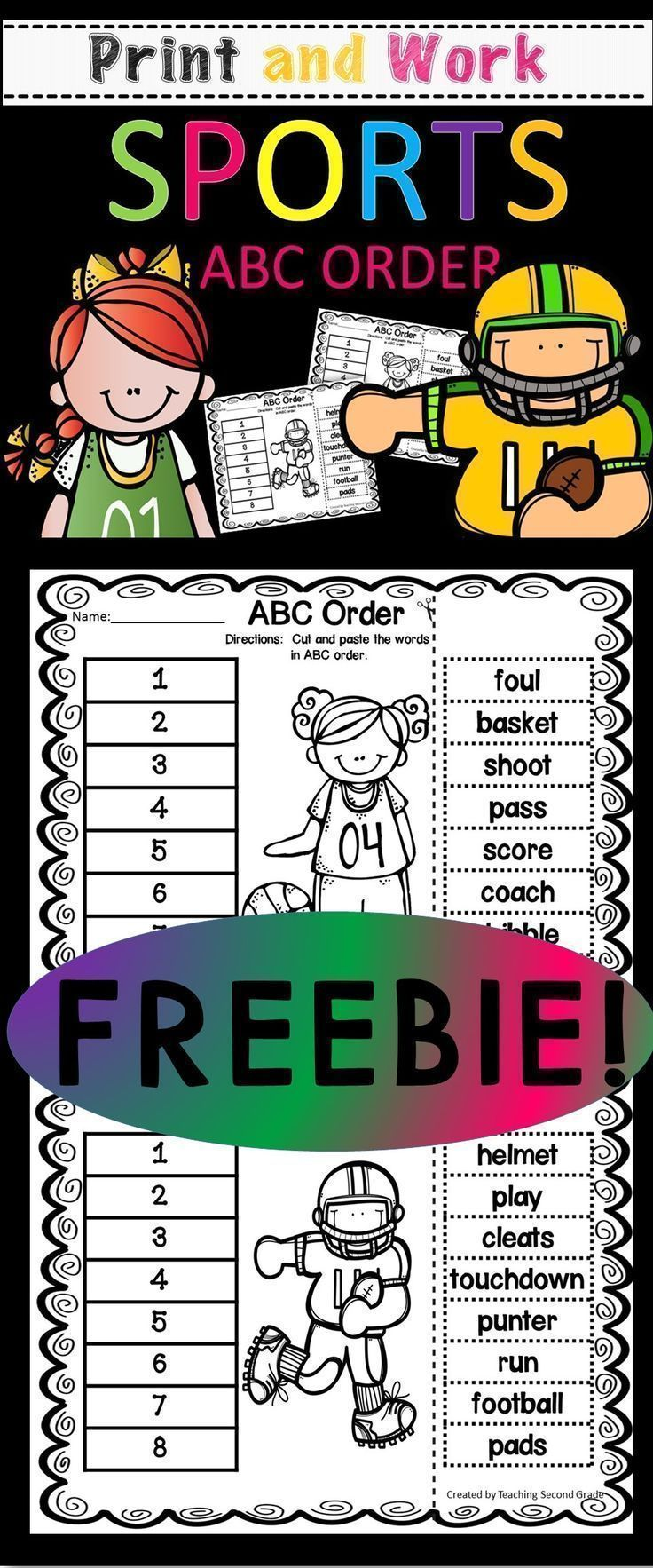 ABC Order Worksheets | First Grade Fabulous | Pinterest ...