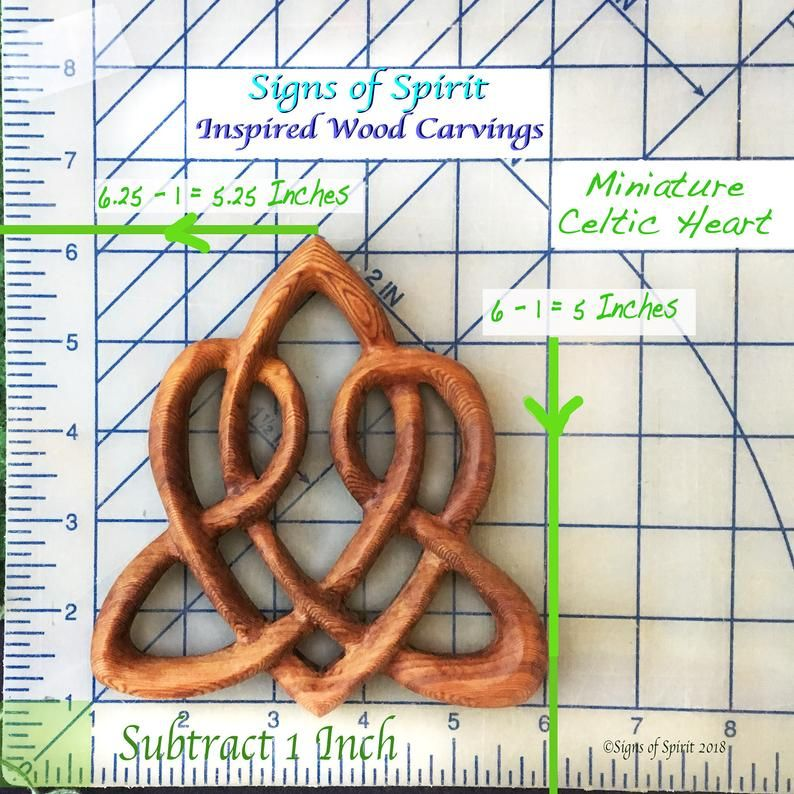 Celtic Heart Love KnotTriquetra of Everlasting LoveWood