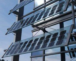 Solar PV Shading - Solar PV Glass Louvres - Image Provided by the Colt Group