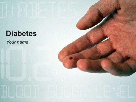 Diabetes Powerpoint Template Raise Awareness Of The Disease  The