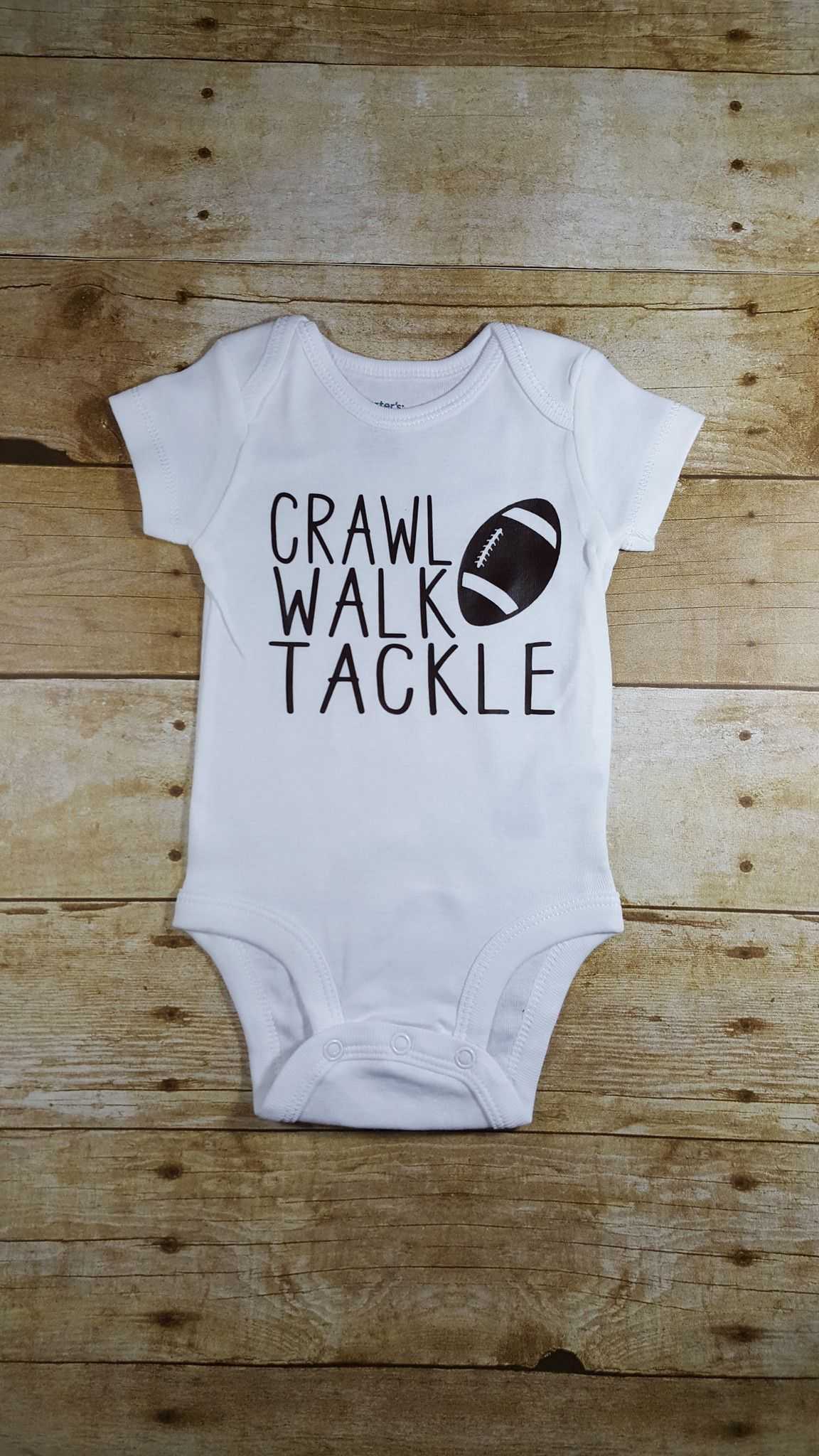 2b592ccd7 Crawl Walk Tackle Football Baby | Little Style | Baby boy monogram ...