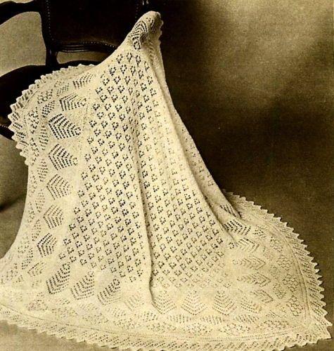 Vintage knitting pattern-make a baby shetland lace ...