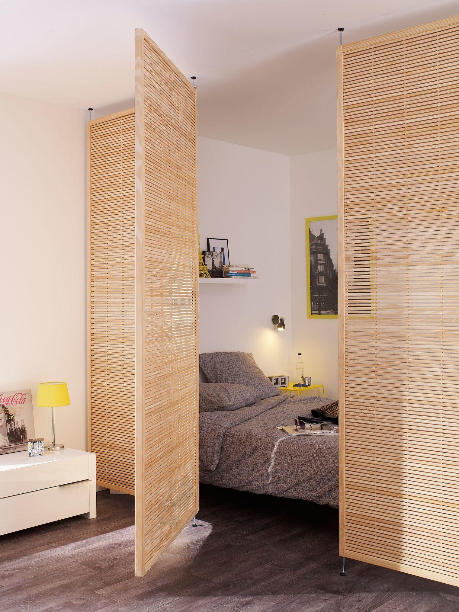 Cloison amovible cloison coulissante meuble cloison paravent  Côté Maison