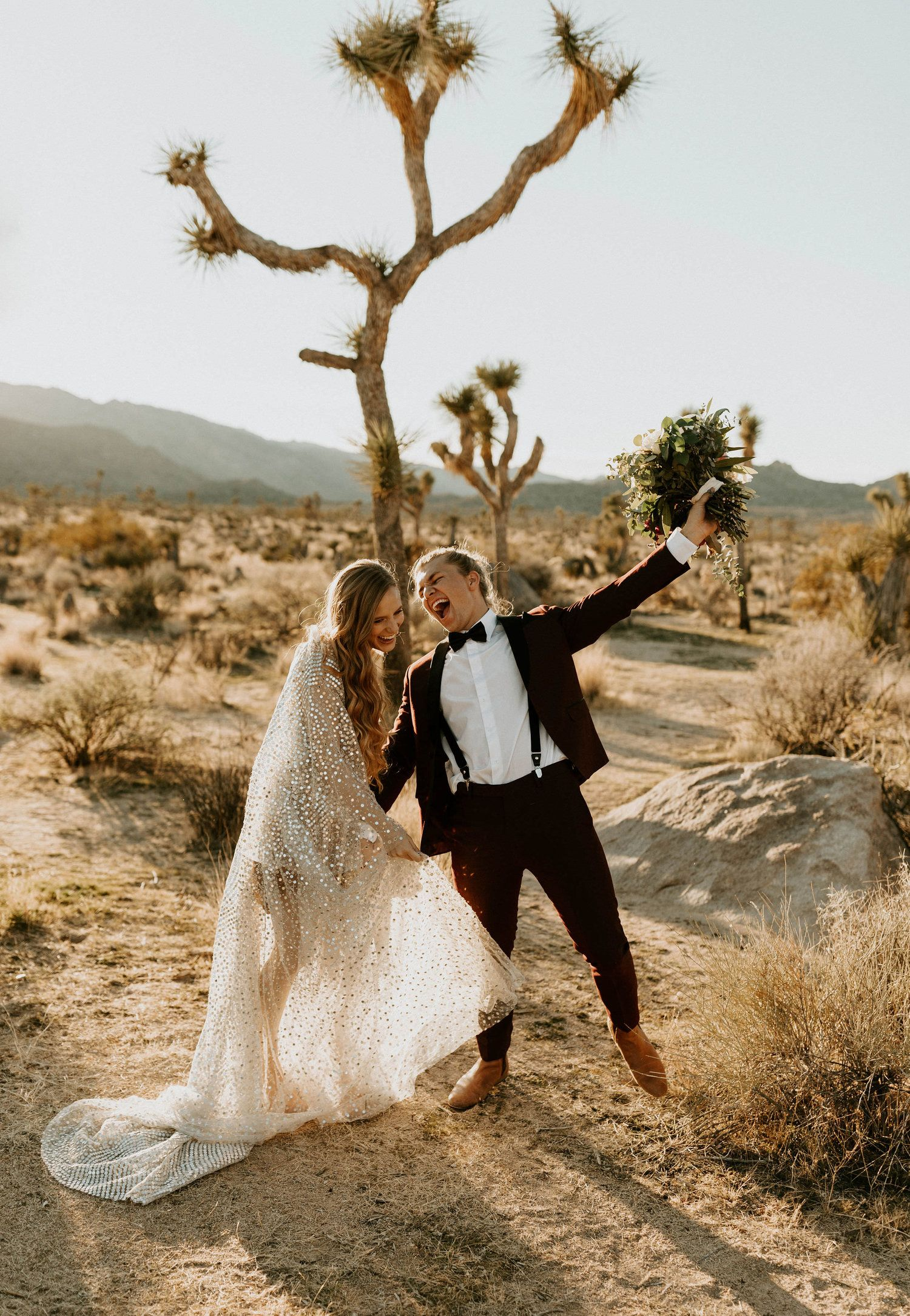 New Year's Eve Elopement in Joshua Tree — Arizona Wedding ...