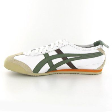 new styles ab57f 381bf Onitsuka Tiger Mexico 66 White Olive Leather Mens Trainers  99