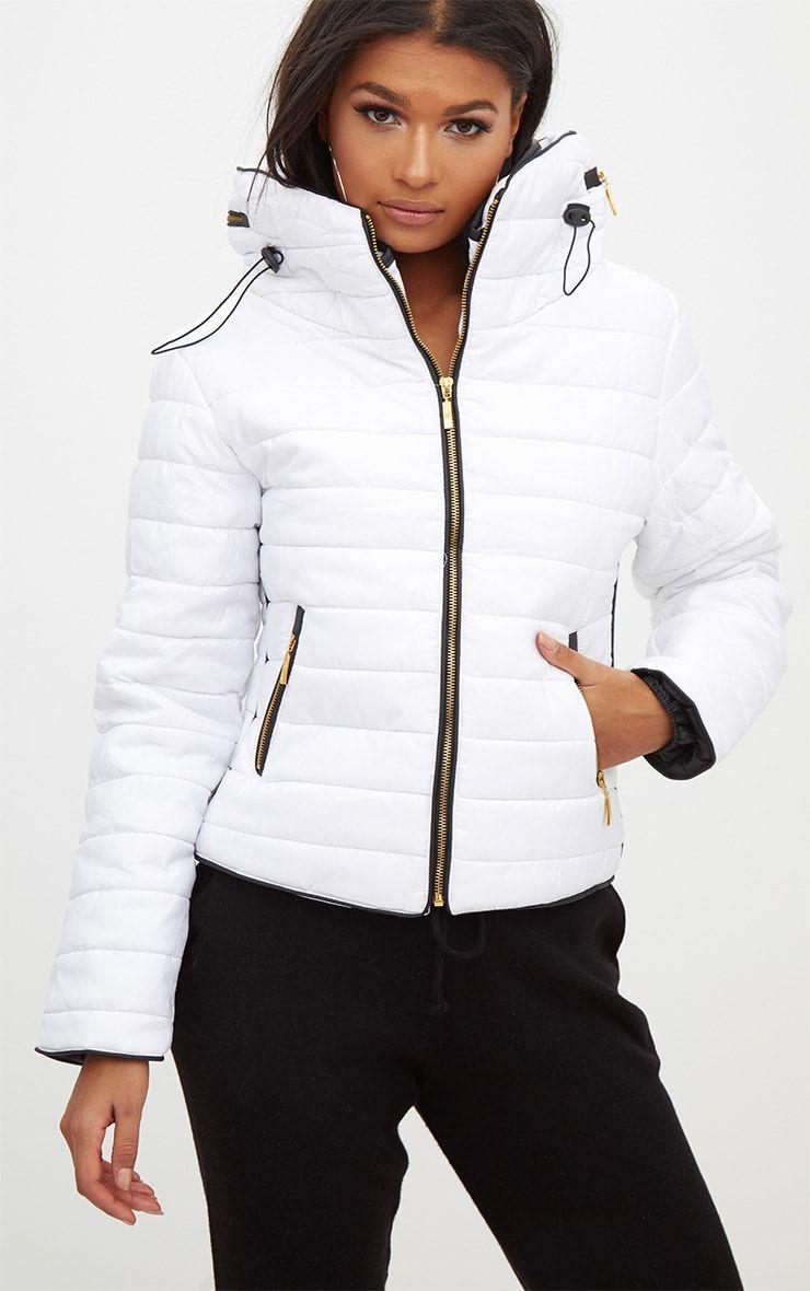 Mara White Puffer Jacket Puffer Jacket Outfit Puffer Jackets White Winter Jacket [ 1180 x 740 Pixel ]